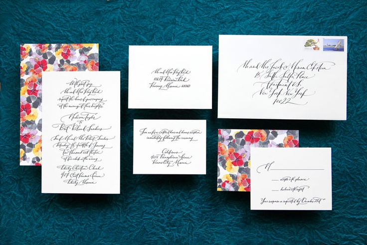 Ligature Collection Wedding Invitations by Paperfinger via Oh So Beautiful Paper (13)