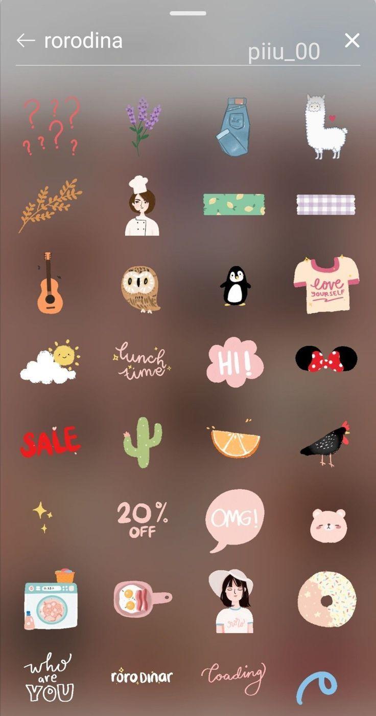 Tiktok Sweety Ikon Sorot Instagram Kreatif Seni Buku