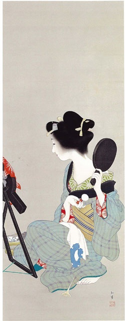 """Picture of Makeup"" by Shoen Uemura (ca. 1913)"