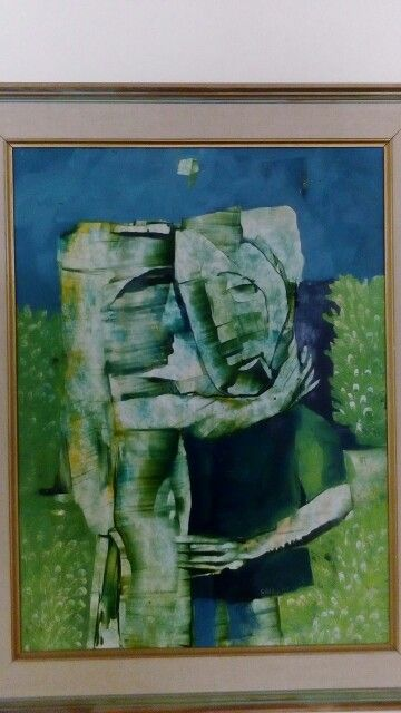 The Lovers with a pallet knife