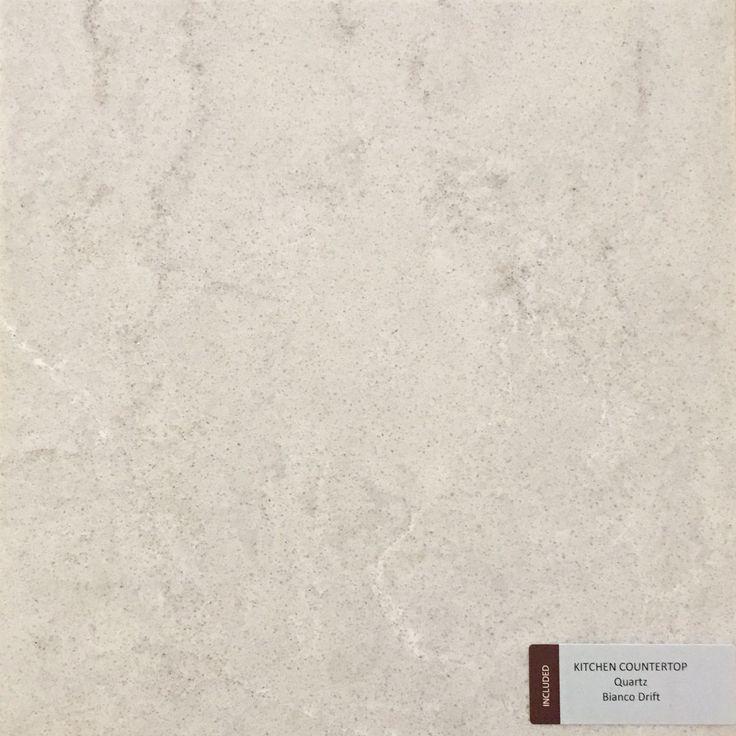 Included Kitchen Countertop - Bianco Drift - Quartz