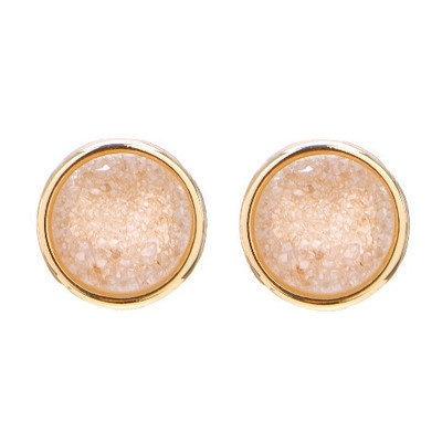 round druzy earrings: Clothing Jewelry, Round Druzy, Druzy Earrings, Drusen Studs, Sparkle, Jewels, Round Studs, Stones Earrings, Gold Studs