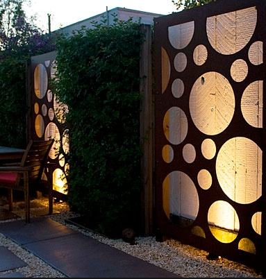 cool fence idea but with transparent color #fence #hamilton #nj www.hornerbros.com