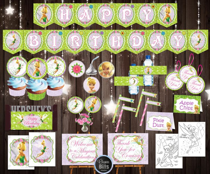 Excited to share a new addition to my #etsy shop: TINKERBELL Birthday Decorations, Printable Tinkerbell Party Pack, Tinkerbell Party, Instant Download, Printable Fairy Party Supplies http://etsy.me/2Cydpqa #papergoods #printable #birthday #tinkerbell #tinkerbellparty