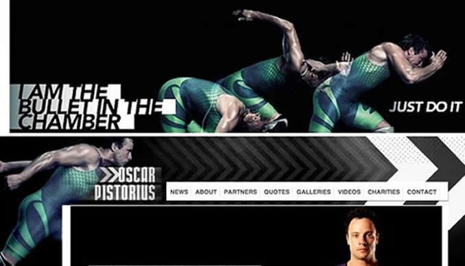 Unfortunate strap-line from Nike - Oscar Pistorius