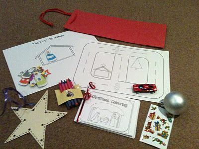 I love this idea!  A quiet bag gift for children at Christmas Eve services.