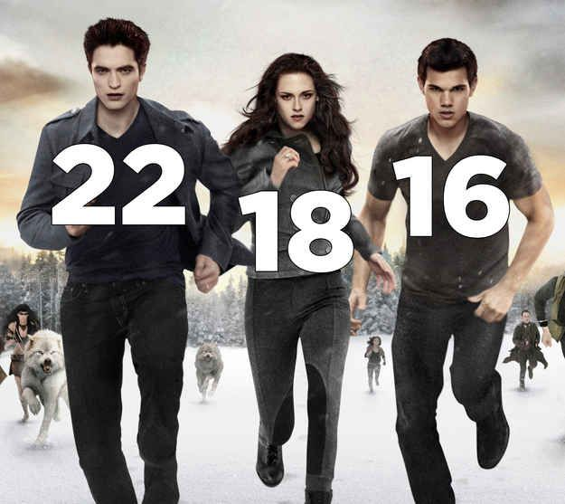 Twilight. | The Real Ages Of '00s Movie Teenagers