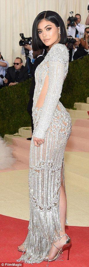 Nailed it! Kylie Jenner made her Met Gala debut in a stunning beaded Balmain dress