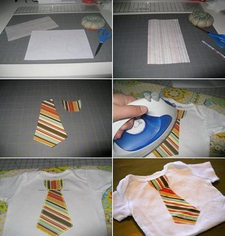 camiseta de bebe decorada