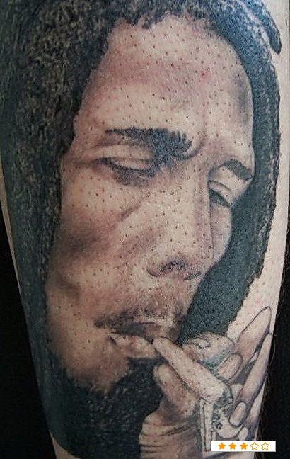 Bob Marley Smoking Tattoo View Post
