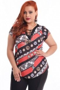 Blusa Golden Red Plus Size