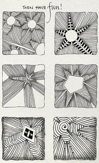 Zentangle Aruka variation tutorial how to