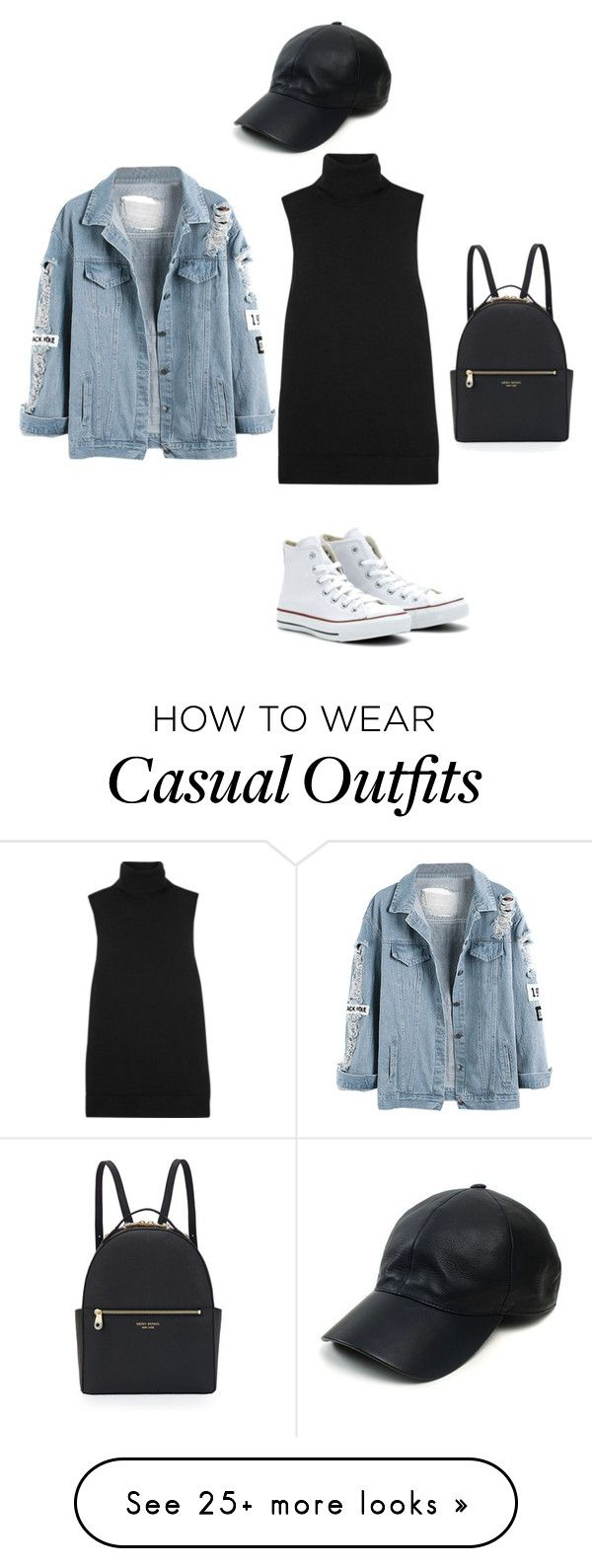 """""""Casually chic"""" by cynthiantinunu on Polyvore featuring Vianel, Converse, Henri Bendel, Equipment, women's clothing, women, female, woman, misses and juniors"""
