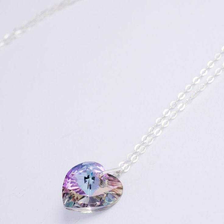 swarosvki crystal heart pendants by clutch and clasp | notonthehighstreet.com  £19.00