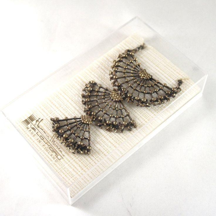 Rare Hannu Ikonen Necklace - Bronze - Original Box
