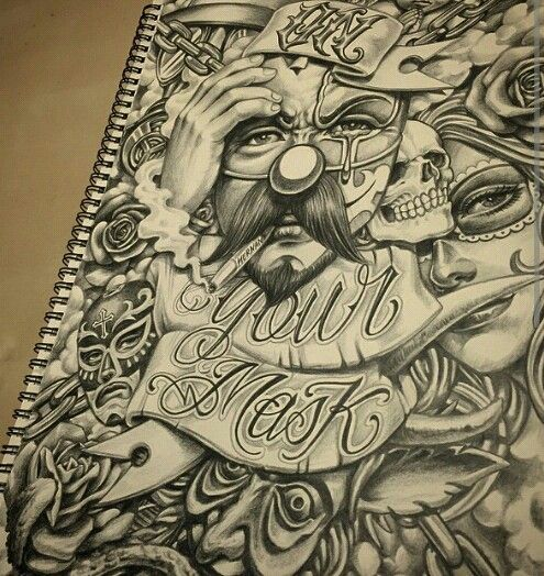 The 25 best gangster drawings ideas on pinterest for Chicano tattoo art