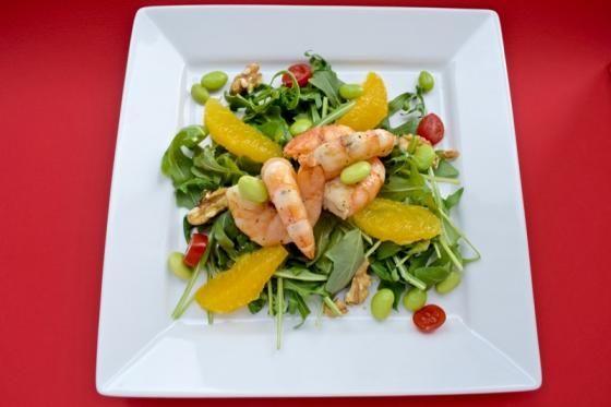 Insalata di rucola gamberi e fagioli verdi  #ricette #food #recipes