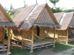 Bamboo huts in Koh Phi Phi, Thailand