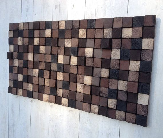IN STOCK Rustic Wooden Wall Art by WallWooden on Etsy