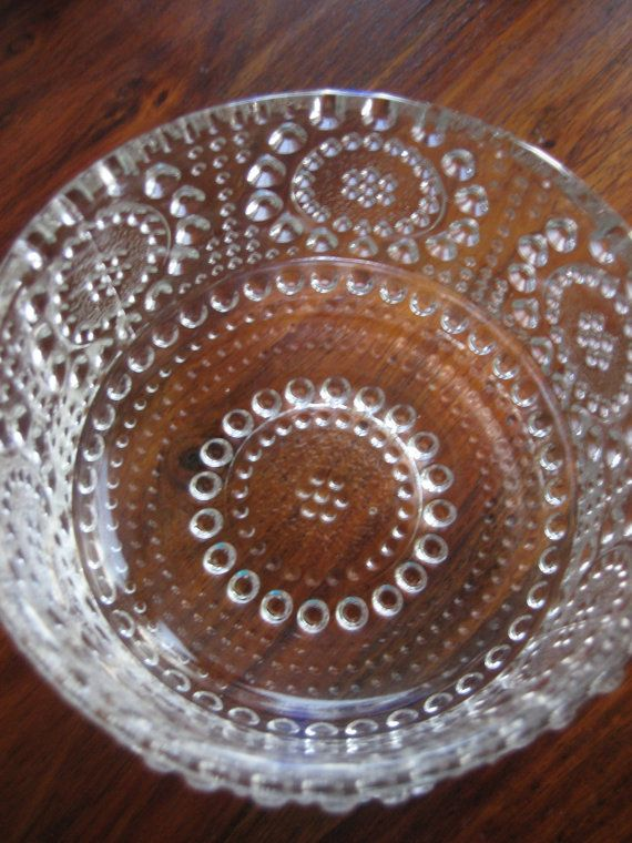 Grapponia clear glass bowl designed by Nanny Still for Nuutajärvi (Iittala)
