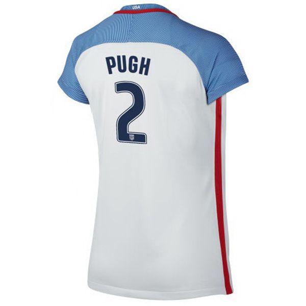 2016 Home Mallory Pugh Jersey USA Women's Soccer #2 - White