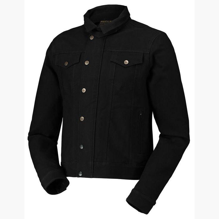 "ROKKER ""Black Jakket"" high-tech motorcycle jacket - abrasion resistant schoeller dynatec, wind proof, water repellent, breathable."
