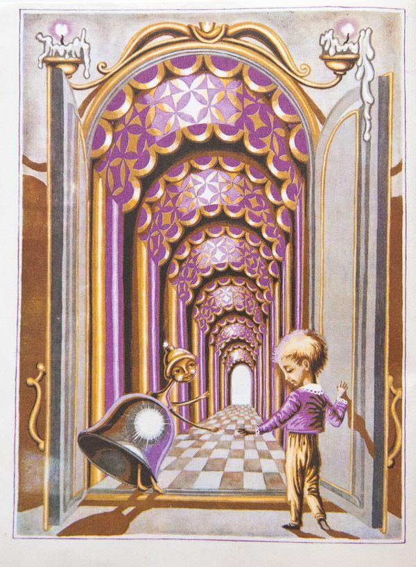"Katerina Shtanko illustration for ""The Town Inside the Snuffbox""."