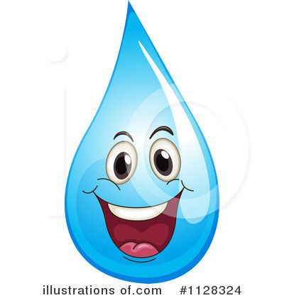 Royalty-Free (RF) Water Drop Clipart Illustration by colematt - Stock