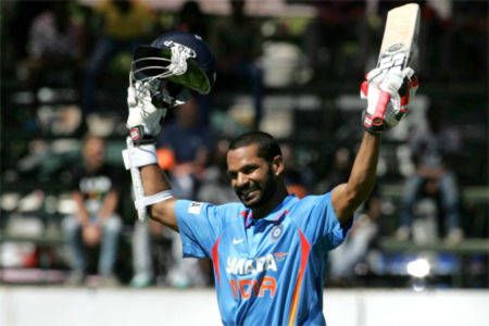 Dhawan's historic effort takes India A to tri-series final