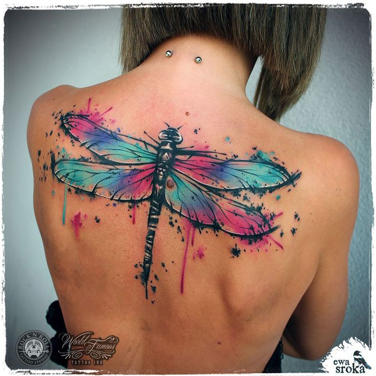 Large Dragonfly Back Tattoo | Best tattoo ideas & designs