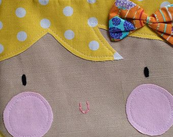 Adorable one of a kind handmade zipper pouch