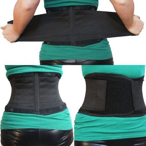 Black 5 Sizes Magnetic Pull Lumbar Lower Back Support Belt Brace Pain Relief USA | eBay