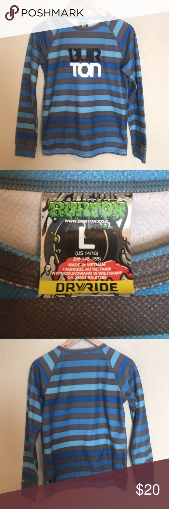 Button snowboarding long sleeve top Burton snowboarding dryride long sleeve shirt— gently used condition. Burton Shirts & Tops