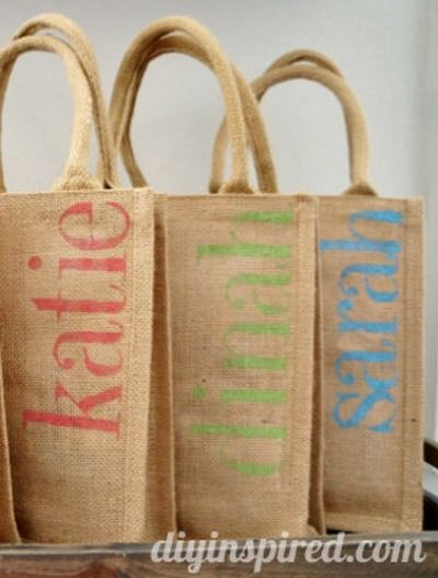 Diy Bachelorette Party Favor Bags Burlap Crafts With Joann Pinterest And