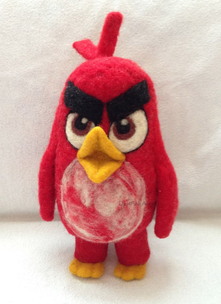 Needle Felted Angry Birds: Movie