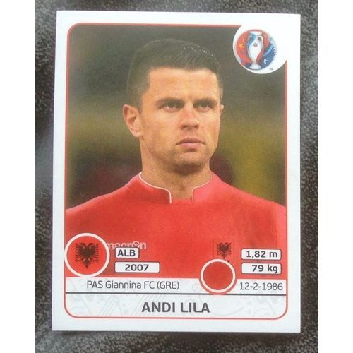 Football Soccer Sticker Panini UEFA Euro 2016 #75 Albania