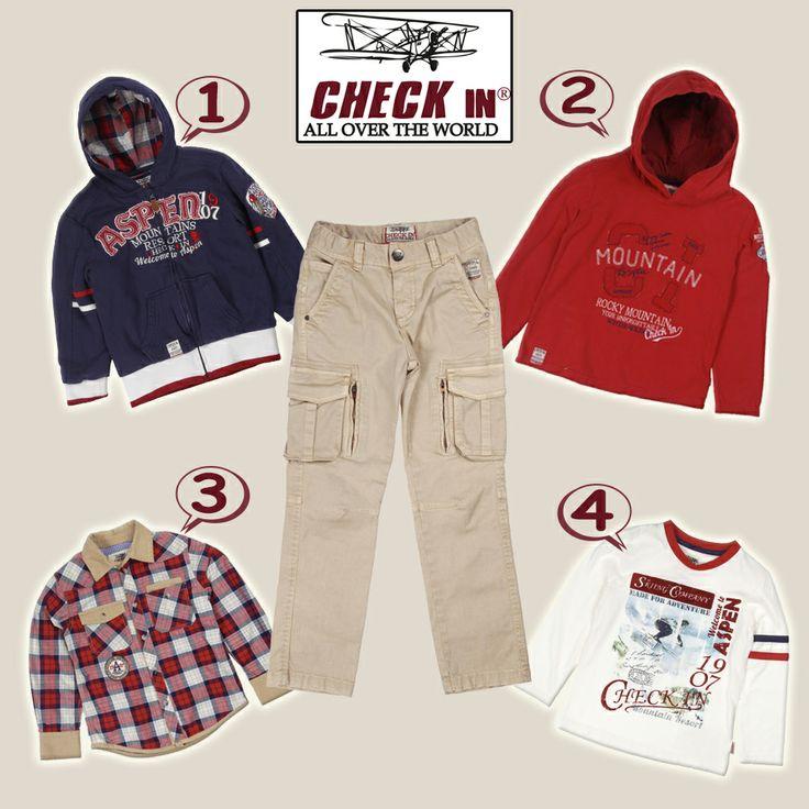 Check In kargo pantolonun üstüne hangi modeli kombin edersiniz? :)