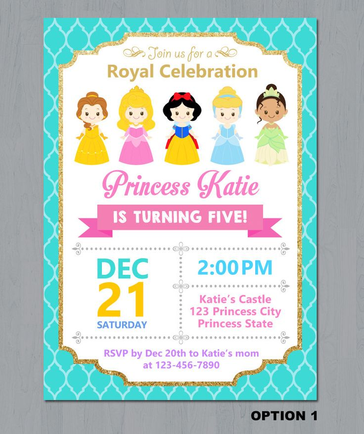 The 25 best disney princess invitations ideas on pinterest disney princess invitation disney princess birthday invitation princess invitation princess party invitation by stopboris Images