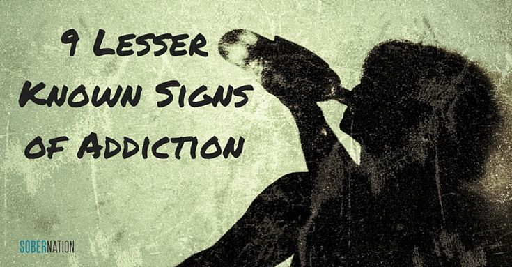 Some signs of addiction are glaring, others are a bit more hidden - https://www.sobernation.com/9-lesser-known-signs-of-addiction/#utm_sguid=167060,c8d5763a-eaf0-1aab-2e6f-83f7fad60eb1