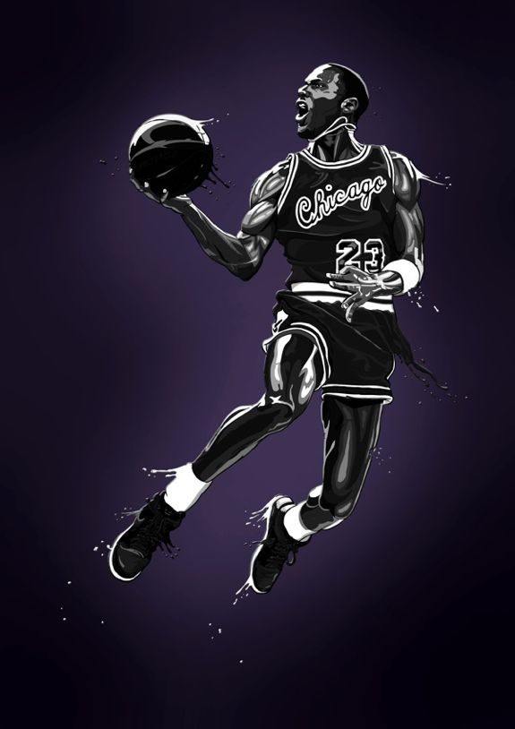 Michael Jordan Monochrome 'Purple' Art
