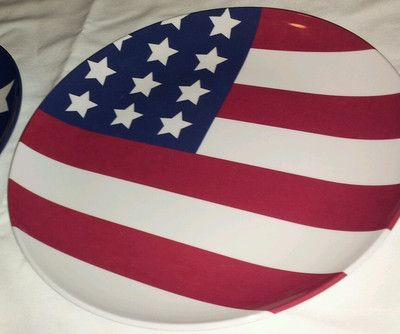 New Pottery Barn Kids American Flag 4th Of July Plate