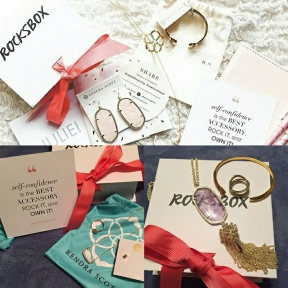Free month subscription for Rocksbox Free month of Rocksbox if you use my code, for $19.00 a month you get 3 pc's  of jewlery $10.00 back to spend . Just use code monicasbff1 Karen Scott Jewelry