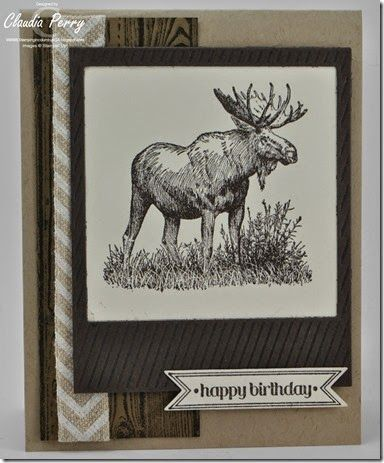 Walk in the Wild, Stampin' Up!, masculine, Stamp-a-Stack, On the film framelits