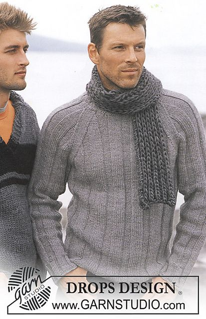 Ravelry: Pullover in Alaska by DROPS design | I know that's a man's sweater, but I'd totally wear it