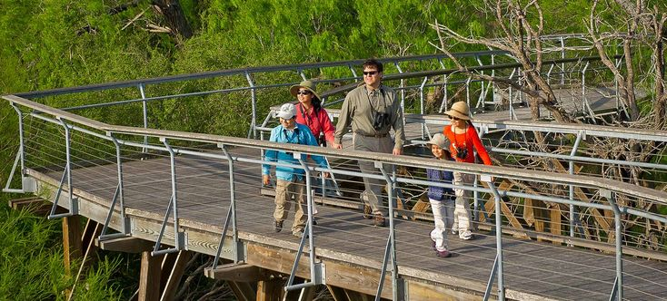 As part of the World Birding Center, Bentsen-Rio Grande Valley State Park is a world-class destination for bird-watching. The Rio Grande Valley hosts one of the most spectacular convergences of birds on earth with more than 525 species documented in this unique place. RV campground: no (primitive camping only).