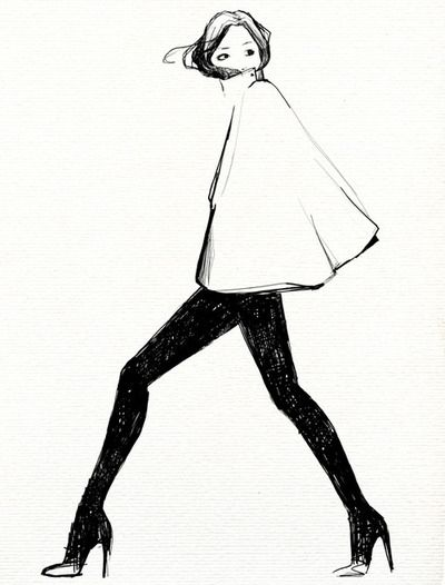 Capes, Garance Doré, Art, Fashionillustration, Sketches, Garancedore, Drawing, Fashion Illustrations