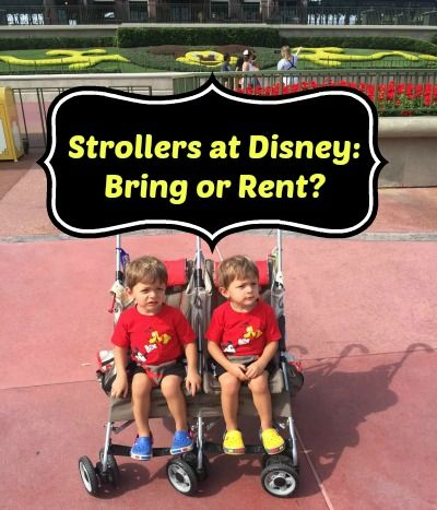 To pack or not to pack? That is the question. Here are some tips & options to consider for strollers at Walt Disney World #DisneySMMC