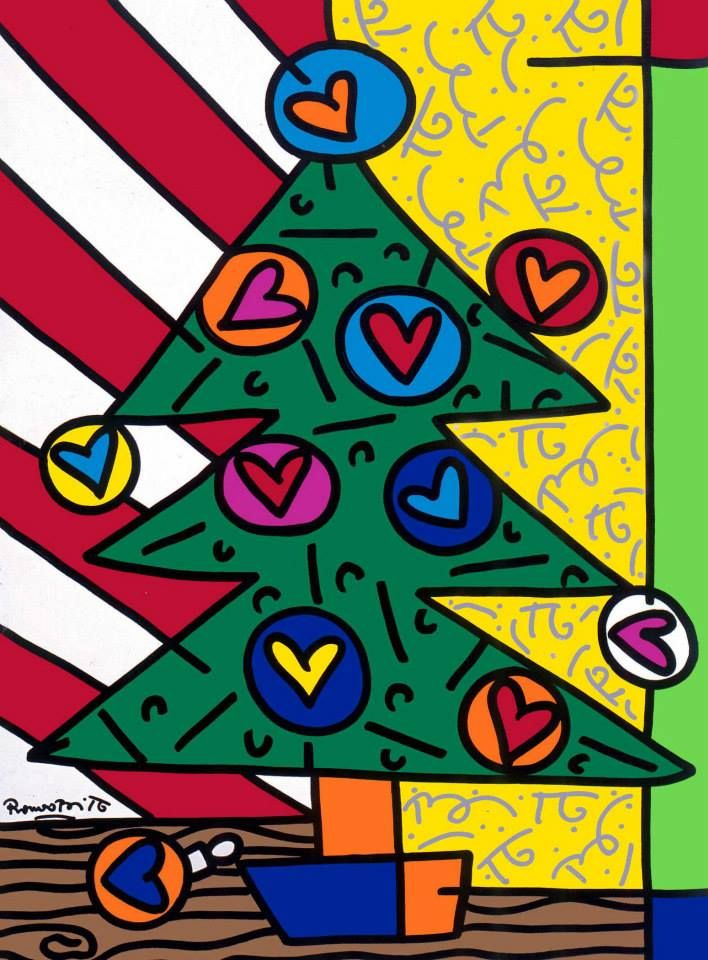 Romero Britto Christmas.