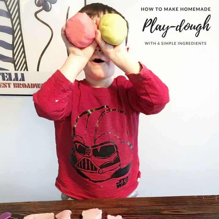 EASY homemade play-dough recipe! Anna Georgianna Blog