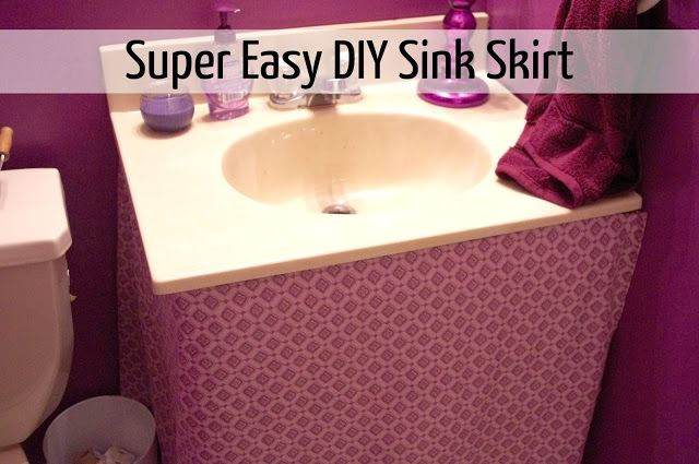 Madcap Frenzy: graphic design, diy, papercrafts and everything in-between: Simple Purple Bathroom Sink Skirt